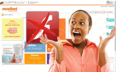 SERVICIOS EN LÍNEA | Movilnet: Una web que aún usa Flash Player